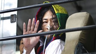 NEW DELHI, INDIA - OCTOBER 7: Manipuri civil rights activist Irom Sharmila leaves after an appearance at the Patiala House Court on October 7, 2015 in New Delhi, India. Court fixed December 15 to hear final arguments in the case against civil rights activist Irom Sharmila, accused of a suicide bid during her fast-unto-death protest in 2006. Sharmila has been on a fast for about 15 years, seeking repeal of the AFSPA in Manipur. (Photo by Ravi Choudhary/Hindustan Times via Getty Images)