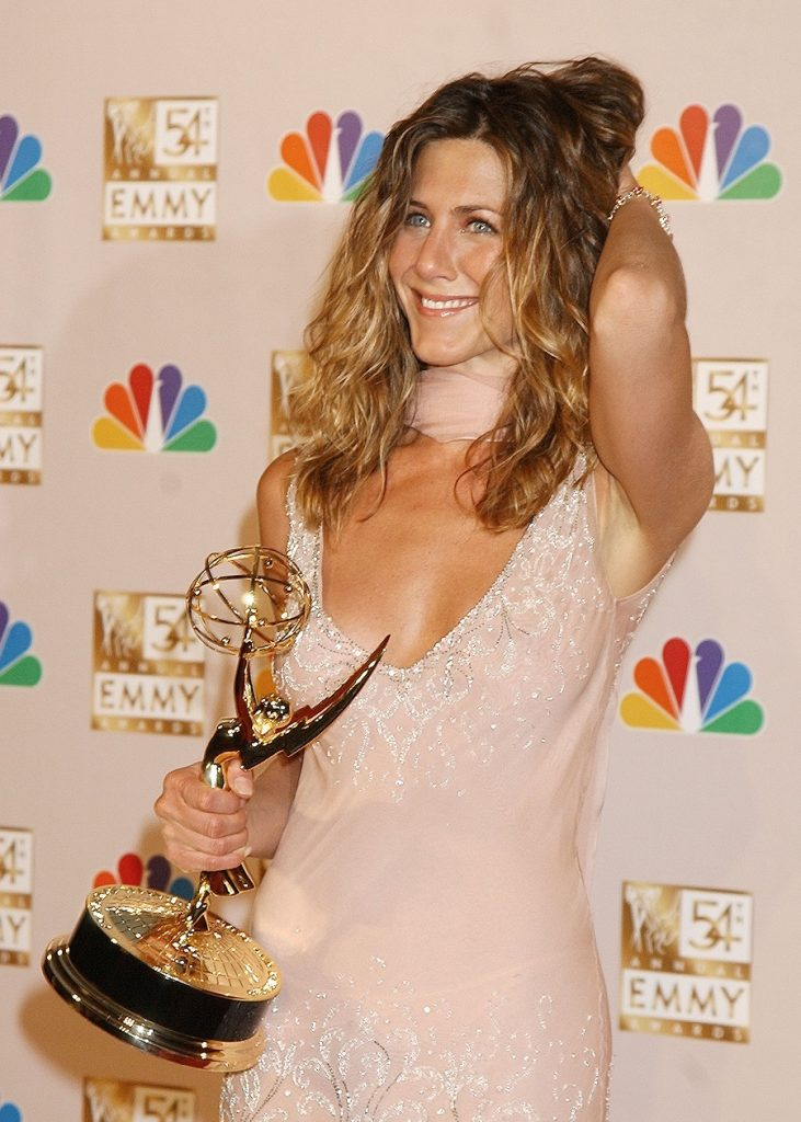 Jennifer Aniston during The 54th Annual Primetime Emmy Awards - Press Room at The Shrine Auditorium in Los Angeles, California, United States. (Photo by Gregg DeGuire/WireImage)