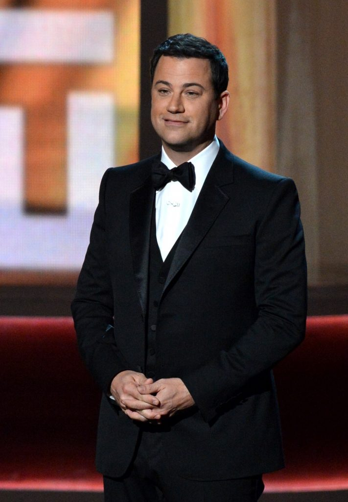 LOS ANGELES, CA - SEPTEMBER 23:  Host Jimmy Kimmel speaks onstage at the 64th Primetime Emmy Awards at Nokia Theatre L.A. Live on September 23, 2012 in Los Angeles, California.  (Photo by Lester Cohen/WireImage)