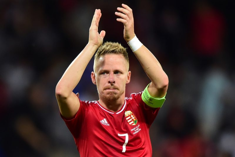 (FILES) This file photo taken on June 26, 2016 shows Hungary's midfielder Balazs Dzsudzsak reacting after   the Euro 2016 round of 16 football match between Hungary and Belgium at the Stadium Municipal in Toulouse on June 26, 2016.   Balazs Dzsudzsak, who captained Hungary at Euro 2016, has joined Al Wahda in the United Arab Emirates, Hungarian press agency MTI reported on August 7, 2016. / AFP PHOTO / Attila KISBENEDEK