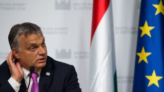Hungarian Prime Minister Viktor Orban attends a press conference after the European Union Summit of 27 Heads of State or Government in Bratislava, Slovakia on  September 16, 2016. The 27 leaders -- minus British Prime Minister Theresa May -- gathered at Bratislava's towering castle overlooking the River Danube, determined to respond to the challenges of mass migration, security, globalisation and a stuttering economy. / AFP PHOTO / VLADIMIR SIMICEK