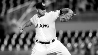 (FILES) This file photo taken on September 20, 2016 shows Jose Fernandez #16 of the Miami Marlins pitching during the game against the Washington Nationals at Marlins Park on in Miami, Florida.    According to media outlets September 25, 2016, Fernandez was killed in a boating accident in Florida early Sunday morning. Fernandez was 24 years old. The Marlins announced the cancelation of Sunday's game against the Atlanta Braves. / AFP PHOTO / GETTY IMAGES NORTH AMERICA / Rob Foldy