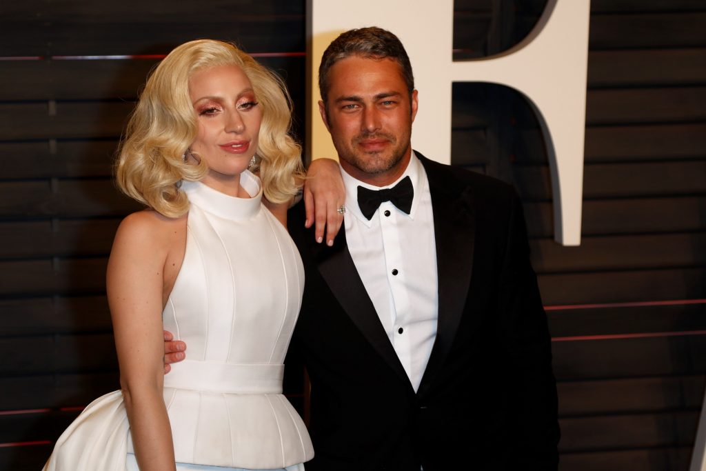 Lady Gaga and Taylor Kinney attend the Vanity Fair Oscar Party at Wallis Annenberg Center for the Performing Arts in Beverly Hills, Los Angeles, USA, on 28 February 2016. Photo: Hubert Boesl -NOWIRESERVICE -