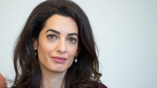 Human rights lawyer Amal Clooney speaking to a journalist at the state ministry in Stuttgart, Germany, 12 September 2016. Amal Clooney is campaigning for international awareness of the fate of the Yezidis, who are being persecuted by the ISterrorist group in Iraq.  PHOTO: BERND WEISSBROD/DPA