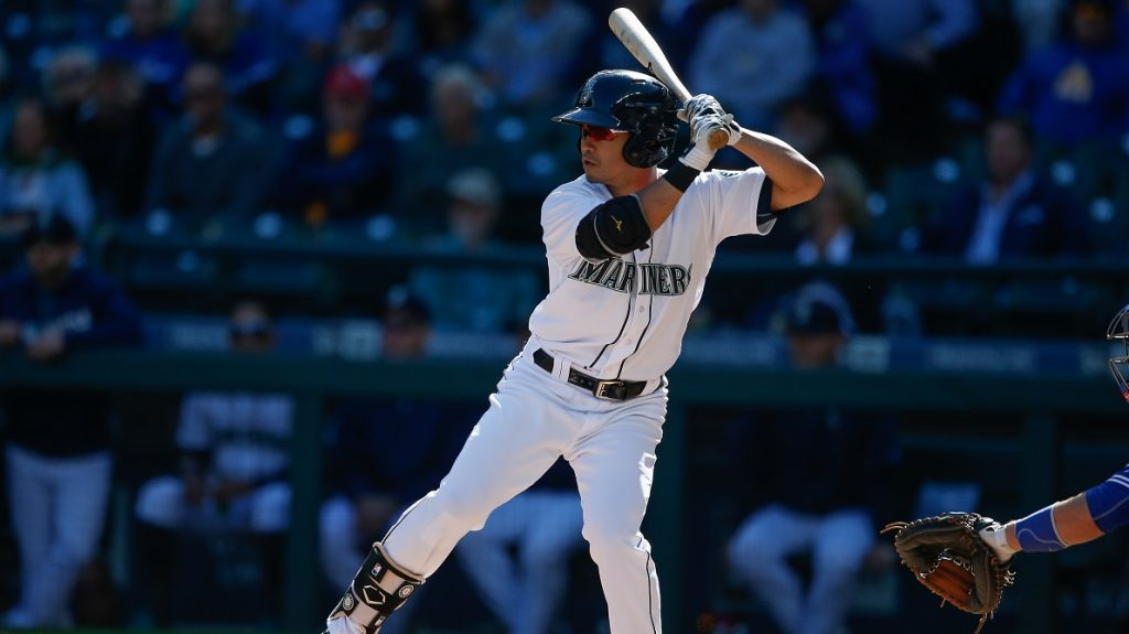 SEATTLE, WA - SEPTEMBER 21: Norichika Aoki #8 of the Seattle Mariners bats against the Toronto Blue Jays in the first inning at Safeco Field on September 21, 2016 in Seattle, Washington. The Mariners defeated the Blue Jays 2-1 in twelve innings.   Otto Greule Jr/Getty Images/AFP