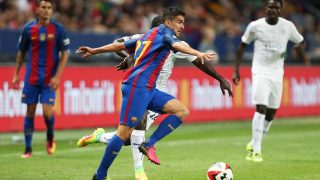 Jesus Alfaro of Barcelona during the International Champions Cup match between FC Barcelona and Leicester City played at the Friends Arena, Stockholm, Sweden, on August 3, 2016 - Photo James Marsh / Backpage Images / DPPI