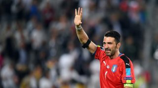 Itlay's Gianluigi Buffon reacts after the UEFA EURO 2016 quarter final soccer match between Germany and Italy at the Stade de Bordeaux in Bordeaux, France, 02 July 2016. Photo: Federico Gambarini/dpa (RESTRICTIONS APPLY: For editorial news reporting purposes only. Not used for commercial or marketing purposes without prior written approval of UEFA. Images must appear as still images and must not emulate match action video footage. Photographs published in online publications (whether via the Internet or otherwise) shall have an interval of at least 20 seconds between the posting.)
