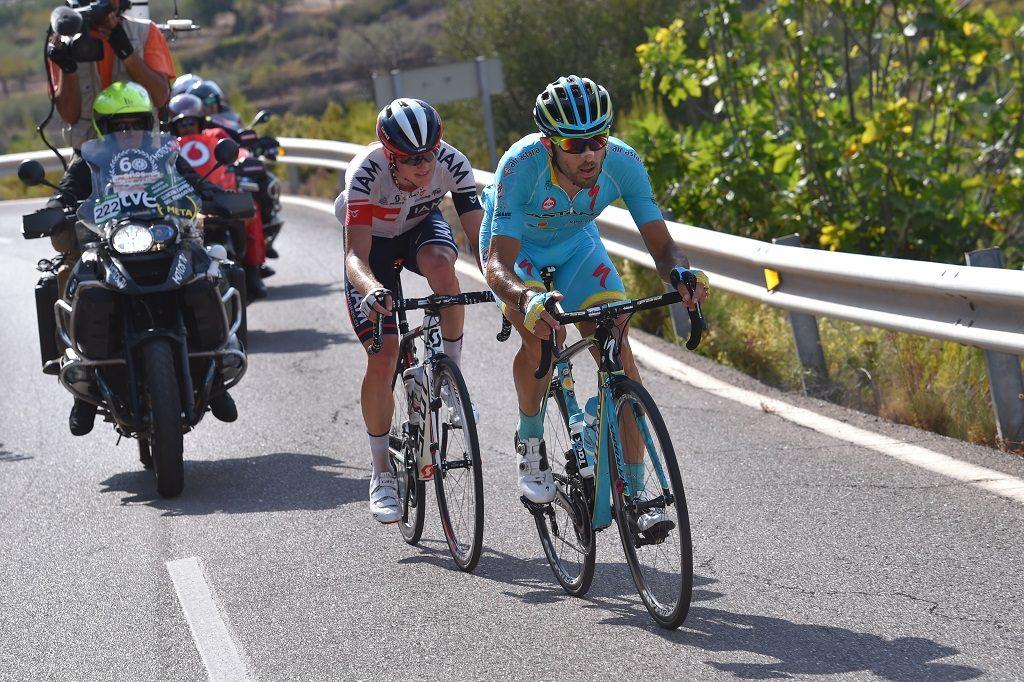 Cycling: 71st Tour of Spain 2016 / Stage 17 Dario CATALDO (ITA)/ Mathias FRANK (SUI)/  Castellon - Llucena Camins del Penyagolosa 980m (177,5km)/  La Vuelta / (Photo by Tim de Waele/Tim De Waele/Corbis via Getty Images)