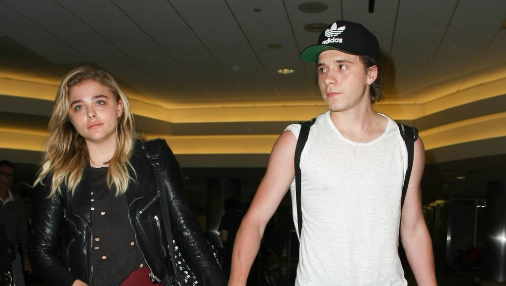 LOS ANGELES, CA - JUNE 30: Chloe Moretz and Brooklyn Beckham are seen at LAX on June 30, 2016 in Los Angeles, California.  (Photo by starzfly/Bauer-Griffin/GC Images)