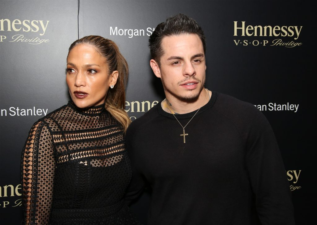 NEW YORK, NY - JULY 09:  Jennifer Lopez and Casper Smart attending the final performance after party for Lin-Manuel Miranda in 'Hamilton' on Broadway at R Lounge at Renaissance Hotel Times Square on July 9, 2016 in New York City.  (Photo by Walter McBride/WireImage)