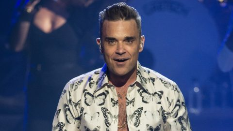LONDON, ENGLAND - SEPTEMBER 25: (AVAILABLE FOR LICENCE FOR 30 DAYS FROM CREATE DATE ) Robbie Williams performs at the Apple Music Festival at The Roundhouse on September 25, 2016 in London, England.  (Photo by Brian Rasic/WireImage)