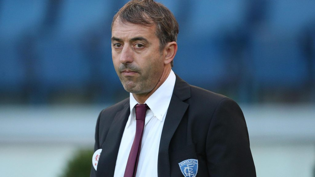 Empoli's coach Marco Giampaolo during the Italian Serie A soccer match As Roma vs Empoli Fc at Olimpico stadium in Rome, Italy, 17 October 2015. ANSA/ ALESSANDRO DI MEO