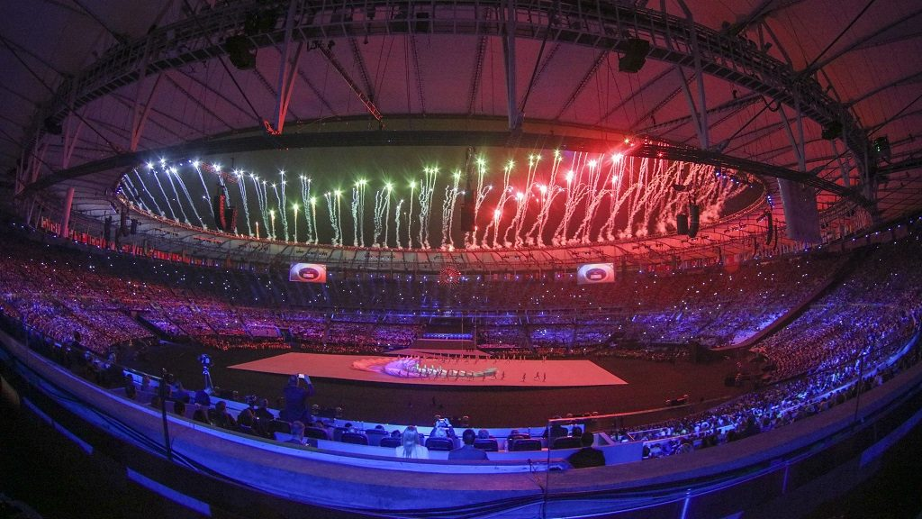 Rio 2016 Paralympic Games, fireworks during the  opening ceremony held in Stadio Maracana of Rio de Janeiro the 7th of september 2016. (Photo by Mauro Ujetto/NurPhoto via Getty Images)