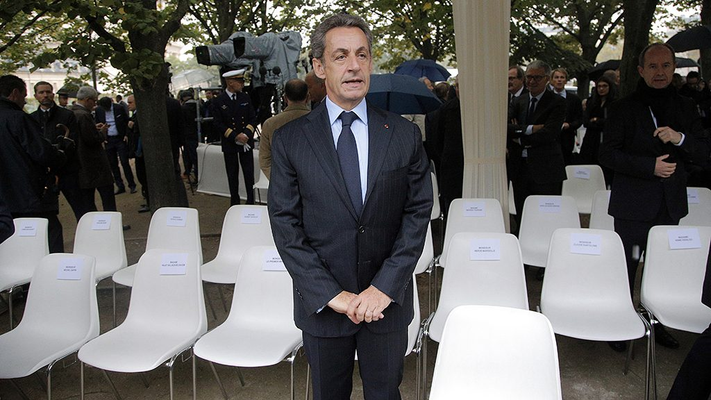 Former French President Nicolas Sarkozy waits before a France's national tribute to victims of terrorism at the Hotel des Invalides in Paris on September 19, 2016.French President Francois Hollande presides over a national ceremony to pay tribute to victims of terrorist attacks including that targeting Nice on Bastille Day. / AFP PHOTO / POOL / Michel Euler