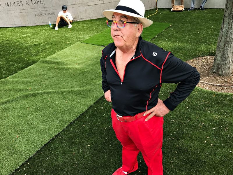 NEW YORK, NY - SEPTEMBER 09:  Humberto Becerra, from Chile takes in the grounds on Day Twelve of the 2016 US Open at the USTA Billie Jean King National Tennis Center on September 8, 2016 in Queens.  (Landon Nordeman for ESPN)