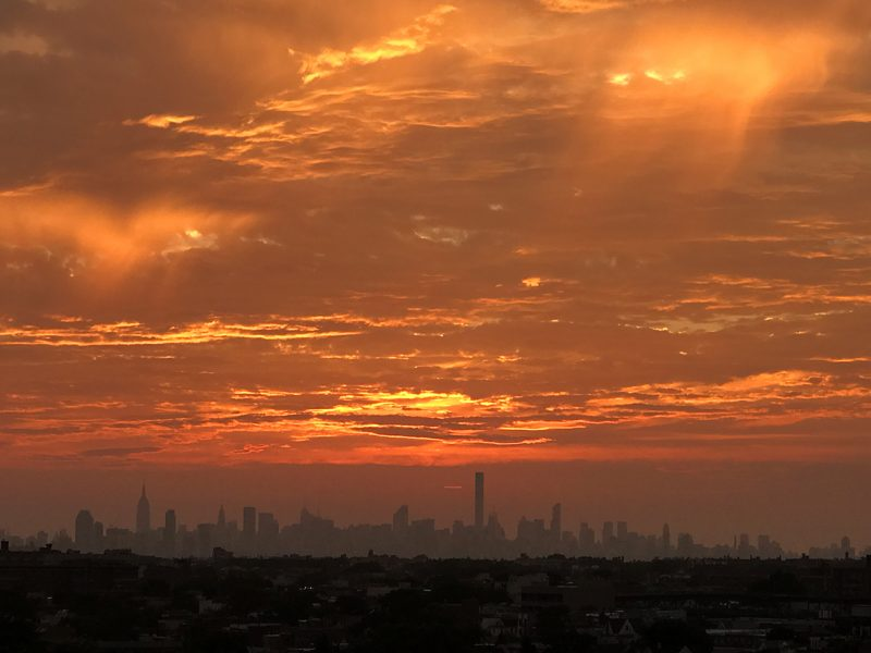 NEW YORK, NY - SEPTEMBER 10:  General view of the New York City skyline from the top of Arthur Ashe Stadium after the conclusion of Day Thirteen of the 2016 US Open at the USTA Billie Jean King National Tennis Center on September 10, 2016 in Queens.  (Landon Nordeman for ESPN)