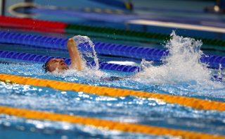 Rio de Janeiro, 2016. szeptember 17. A Magyar Paralimpiai Bizottság (MPB) által közreadott képen Vereczkei Zsolt az S5-ös kategória férfi 50 méteres hátúszásának döntõjében a riói paralimpián az Olimpiai Uszodában 2016. szeptember 16-án. A magyar sportoló a harmadik helyen végzett. MTI Fotó: MPB/Hoffer Szilvi