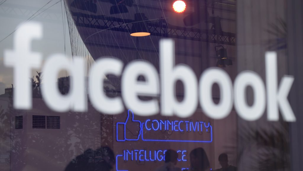 """(FILES) This file photo taken on February 24, 2016 shows the """"Facebook""""-logo on the sidelines of a press preview of the so-called """"Facebook Innovation Hub"""" in Berlin. Facebook on October 3, 2016 launched a new online """"Marketplace"""" allowing members of the huge social network to buy and sell with each other. The new feature puts Facebook squarely in competition with local online selling platforms led by Craigslist.  / AFP PHOTO / TOBIAS SCHWARZ"""