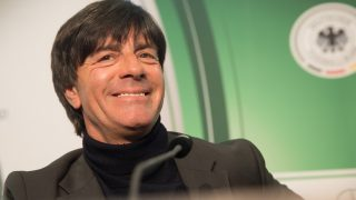 Germany national football team trainer Joachim Loew smiles at a press conference in the headquarters of theGerman FootballAssociation (DFB) in Frankfurt am Main, Germany, 31 October 2016. Loew previously extended his contract as national trainer until 2020. Photo:FRANKRUMPENHORST/dpa