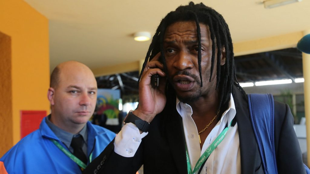 former Cameroon player Rigobert Song  during the FIFA technical conference, Team Workshop, Santinho Coast Hotel in Florianopolis, Santa Catarina State in southern Brazil, on February 19, 2014 (Photo: Vanessa Carvalho / Brazil Photo Press)..