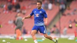 Cesc Fabregas of Chelsea warms-up during the Premier League match between Arsenal and Chelsea played at the Emirates Stadium, London on 24th September 2016 - Photo Joe Toth / BPI / DPPI