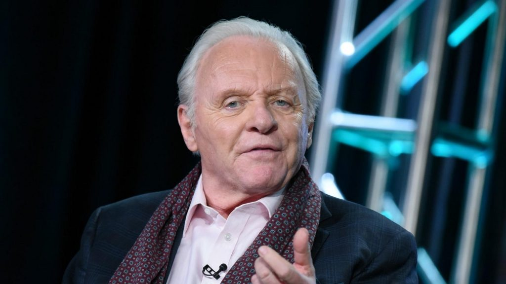 """Sir Anthony Hopkins appears onstage during """"The Dresser"""" panel at the Starz 2016 Winter TCA on Friday, Jan. 8, 2016, in Pasadena, Calif. (Photo by Richard Shotwell/Invision/AP)"""