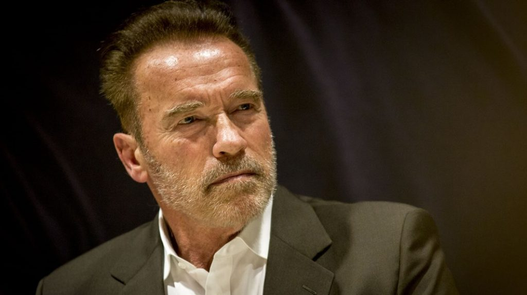 BARCELONA, SPAIN - SEPTEMBER 23:  Former California's governor, actor and sportsman Arnold Schwarzenegger attends a press conference during the first day of Arnold Classic Europe on September 23, 2016 in Barcelona, Spain. Albert Llop / Anadolu Agency