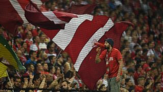 Supporters of FC Bayern Munich during the Champions League soccer match between Bayern Munich and FC Rostov at the Allianz Arenain Munich,Germany,  13 September 2016. Munich won the match 5-0. PHOTO:Peter Kneffel/dpa