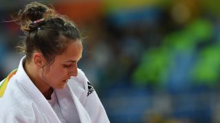Rio de Janeiro, 2016. augusztus 11. Joó Abigél, miután kikapott a kubai Yalennis Castillo ellen a nõi cselgáncsozók 78 kilogrammos súlycsoportjának vigaszági mérkõzésén a riói nyári olimpián a Rio de Janeiró-i 2-es Karióka Arénában 2016. augusztus 11-én. Joó Abigél hetedikként zárt. MTI Fotó: Czeglédi Zsolt