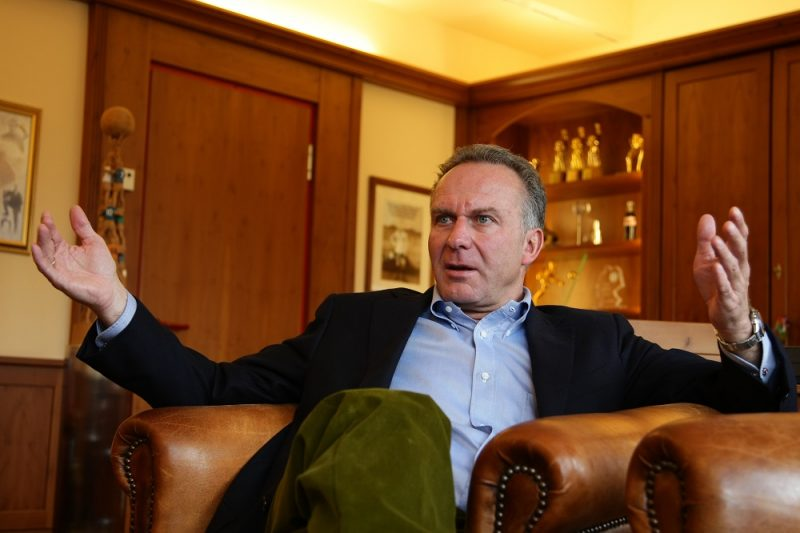 Munich chairman Karl Heinz Rummenigge during an interview in his office in Munich, Germany. (Photo by sampics/Corbis via Getty Images)