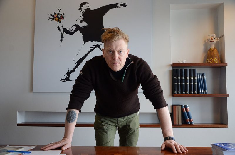 ICELAND, WESTFJORDS:  Jon Gnarr, the colourful former mayor of Reykjavik, Iceland, poses in his office in May 2014. The comedian, artist and self-proclaimed anarchist, became the mayor of Reykjavik in 2010 after forming a joke party meant to protest corruption and satirize Icelandic politics. Despite maintaining popular support, Gnarr decided not to run for a second term and stepped down in early June, becoming only the third Reykjavik mayor to complete a full term in over 30 years.        (Jennifer Yang/Toronto Star via Getty Images)