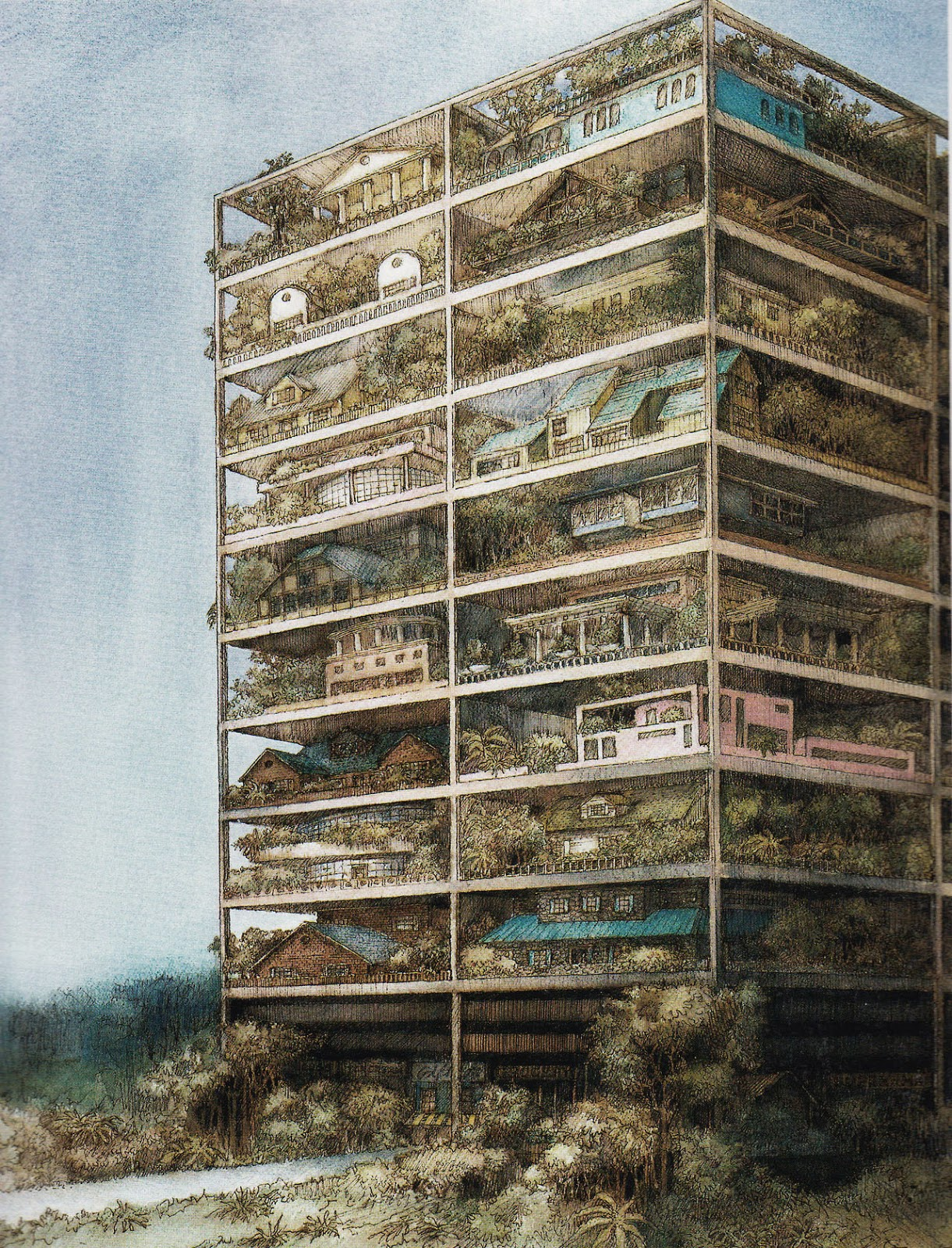 highrise of homes, james wines_02