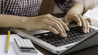 Image of woman using a laptop
