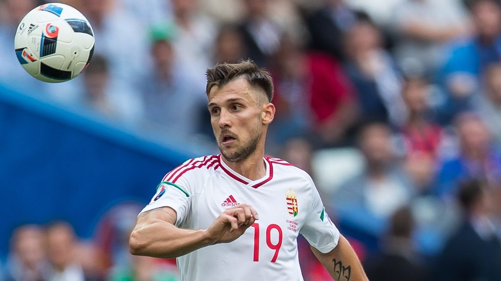 Tamas Priskin (Wegry) during he Euro 2016 group F football match between Iceland and Hungary at the Stade Velodrome in Marseille on June 18, 2016. (Photo by Foto Olimpik/NurPhoto)