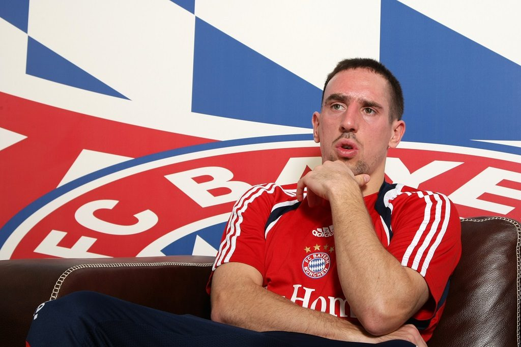 Franck Ribery of FC Bayern Munich during an interview in Munich, Germany. (Photo by Sampics/Corbis via Getty Images)