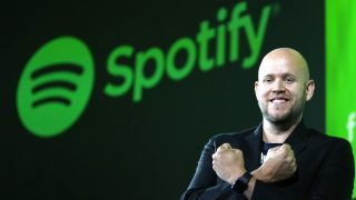 Daniel Ek, CEO of Spotify, Swedish music streaming company, attends a press conference in Tokyo on Sept.  29, 2016. More than one  hundred millionits people from the 60 countries and regions use the Spotfiy, the laregest  service which has launched in Japan.  ( The Yomiuri Shimbun )
