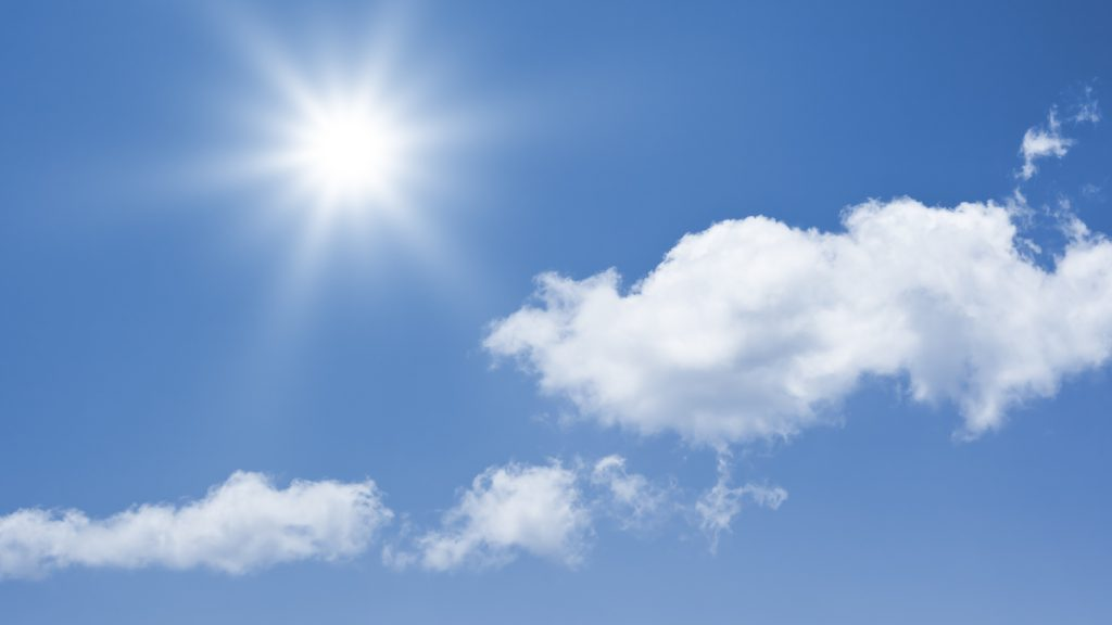 An image of a bright sun background