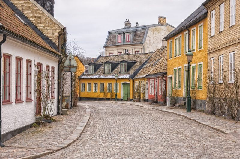 Street scene from the Swedish town of Lund.