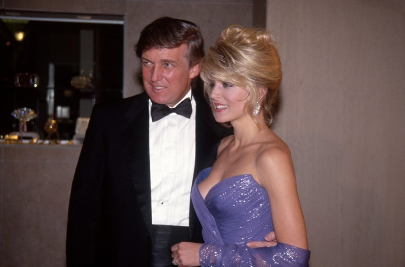 NEW YORK - FEBRUARY 27:   Property developer Donald Trump and girlfriend Marla Maples attend an event on February 27, 1992 in New York City, New York . (Photo by Al Pereira/Michael Ochs Archives/Getty Images)