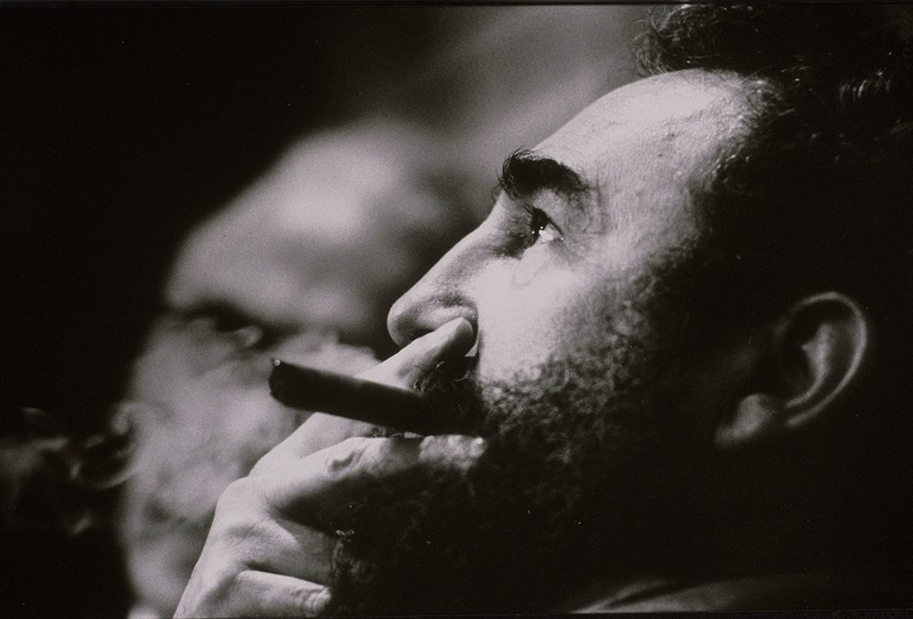 HAVANA, CUBA -- CIRCA 1977: Fidel Castro smokes a cigar in Havana, Cuba, 1977. (Photo by David Hume Kennerly/Getty Images)