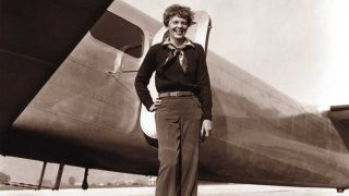 """An May 20, 1937 photo shows US aviator Amelia Earhart next to her Lockheed 10 Electra. Amelia Earhart took off from Burbank, California in 1937 on her ill-fated round-the-globe flight. A photographer documented the journey's start, but the world was unaware -- until Tuesday -- that a home movie was also made that day. A publisher released a grainy but extraordinarily well-preserved 3.5-minute film this month depicting the legendary aviatrix, smiling and self-confident, climbing aboard her plane the day before she departed on a trip that led to Earhart's mysterious disappearance over the Pacific six weeks later. Author and historian Douglas Westfall of The Paragon Agency, which is publishing the film clip """"Amelia Earhart's Last Photo Shoot"""" along with a book of the same name, said he was approached a decade ago by John Bresnik's son, who revealed he had a potentially historic 16-millimeter film that his father had kept for decades in his office. When the elder Bresnik died, the son kept the film untouched for 20 years, until Westfall coaxed him to let him make a digital copy. The photographs from the May 20, 1937 shoot, perhaps most notably the one of a smiling Earhart leaning against the tail of her Lockheed, have been seen by millions.   AFP PHOTO / HANDOUT / Albert Bresnik                 == RESTRICTED TO EDITORIAL USE / MANDATORY CREDIT: """"AFP PHOTO / HANDOUT / ALBERT BRESNIK  """"/ NO MARKETING / NO ADVERTISING CAMPAIGNS / NO A LA CARTE SALES / DISTRIBUTED AS A SERVICE TO CLIENTS == / AFP PHOTO / The Paragon Agency / Albert Bresnik"""