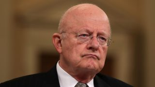 WASHINGTON, DC - NOVEMBER 17: Director of National Intelligence James Clapper testifies during a hearing before the House (Select) Intelligence Committee November 17, 2016 on Capitol Hill in Washington, DC. Clapper said he has submitted letter of resignation last night.   Alex Wong/Getty Images/AFP