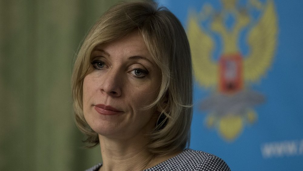 MOSCOW, RUSSIA - NOVEMBER 17: The Director of the Information and Press Department of the Ministry of Foreign Affairs of the Russian Federation Maria Zakharova, delivers a speech during a press conference at the Russian Foreign Ministry building in Moscow, Russia, on November 17, 2016.  Nikita Shvetsov / Anadolu Agency