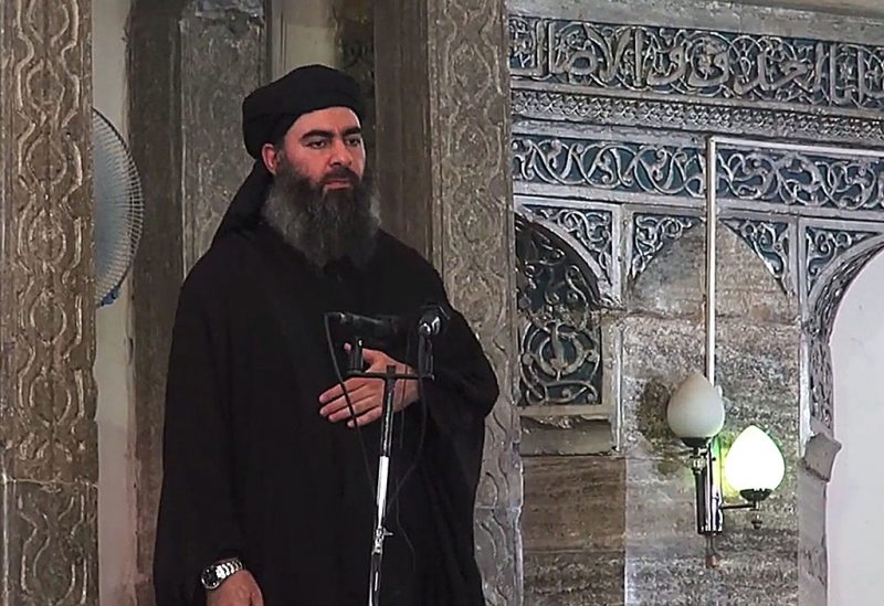 The leader of the militant Islamic State Abu Bakr al-Baghdadi has made what would be his first public appearance at a mosque in the centre of Iraq's second city, Mosul, according to a video recording posted on the Internet on July 5, 2014, in this still image taken from video. There had previously been reports on social media that Abu Bakr al-Baghdadi would make his first public appearance since his Islamic State in Iraq and the Levant (ISIS) changed its name to the Islamic State and declared him caliph. The Iraqi government denied that the video, which carried Friday's date, was credible. It was also not possible to immediately confirm the authenticity of the recording or the date when it was made.05/07/2014 IRAQ-MOSUL/AY-COLLECTION_1445.09/Credit:AY-COLLECTION/SIPA/1407061450 (Sipa via AP Images)