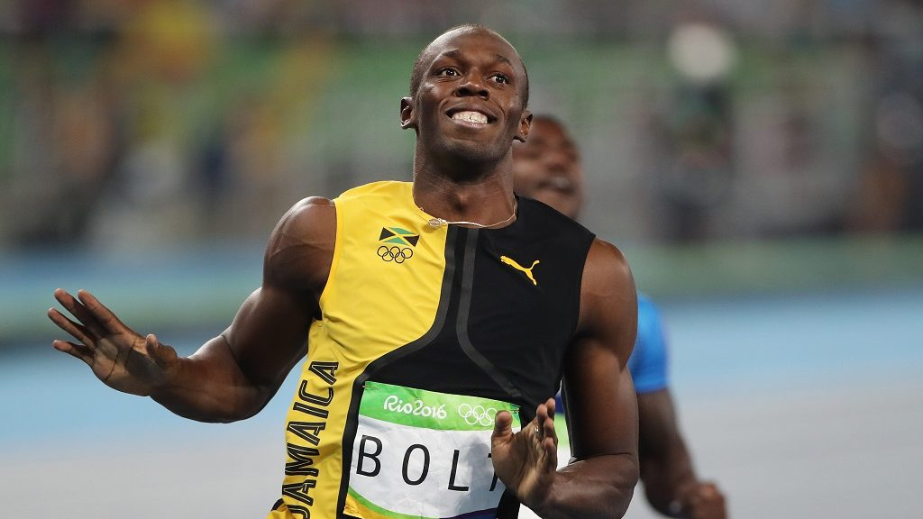 Athletics - Olympics: Day 9  Usain Bolt of Jamaica wins the Men's 100m Final at the Olympic Stadium on August 14, 2016 in Rio de Janeiro, Brazil. (Photo by Tim Clayton/Corbis via Getty Images)