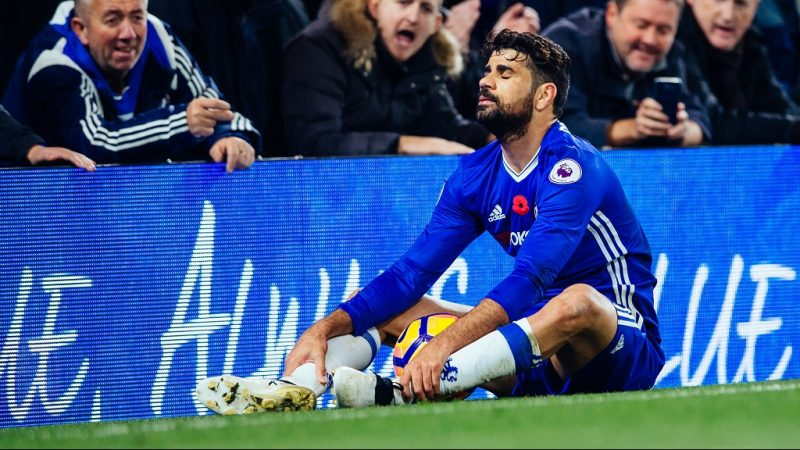 Diego Costa of Chelsea looks dejected during the Premier League match between Chelsea and Everton played at Stamford Bridge Stadium, London, England, on November 5, 2016 - photo Ben Queenborough / Backpage Images / DPPI
