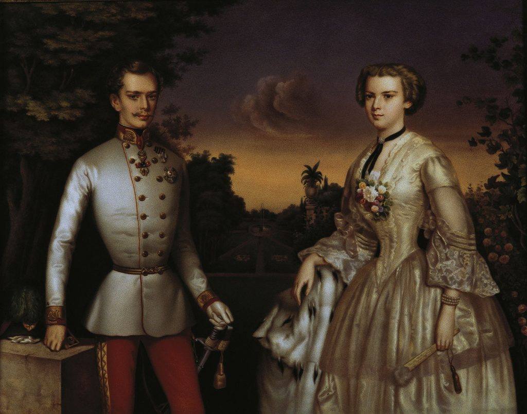 UNSPECIFIED - JANUARY 01:  Portrait of the emperor Franz Joseph and his wife the empress Elisabeth.  (Photo by Imagno/Getty Images) [Portrait des Kaisers Franz Joseph und der Kaiserin Elisabeth.]