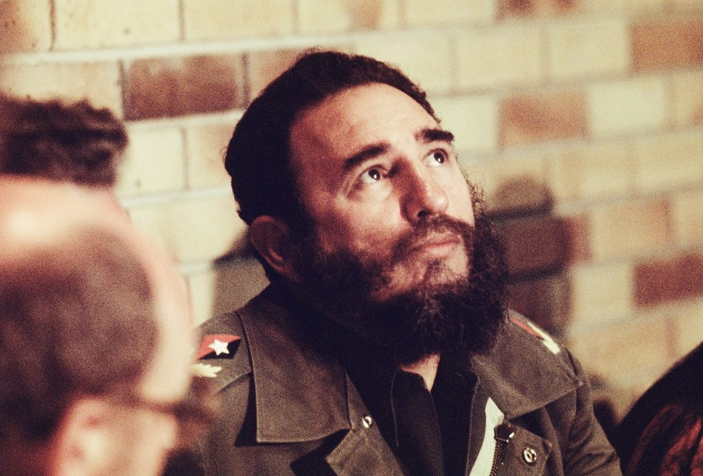 HAVANA, CUBA -- CIRCA 1977: Fidel Castro in his office in Havana, Cuba, circa 1977. (Photo by David Hume Kennerly/Getty Images)