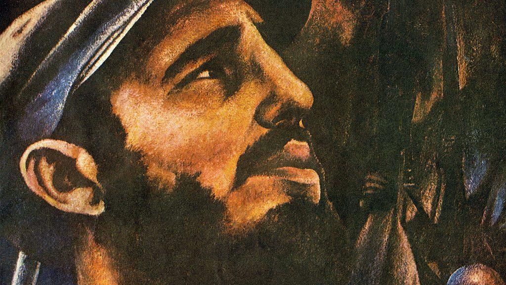 """Portrait de Fidel Castro (ne en 1926), un des principaux instigateurs de la Revolution communiste cubaine en 1959. Couverture, in """"Bohemia"""", le 11 janvier 1959, Cuba. ©Selva/Leemage"""