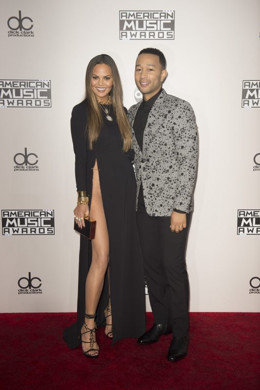 THE 2016 AMERICAN MUSIC AWARDS(r) - The 2016 American Music Awards, the worlds biggest fan-voted award show, broadcasts live from the Microsoft Theater in Los Angeles on SUNDAY, NOVEMBER 20, at 8:00 p.m. EST, on ABC. (Image Group LA/ABC via Getty Images) CHRISSY TEIGEN, JOHN LEGEND